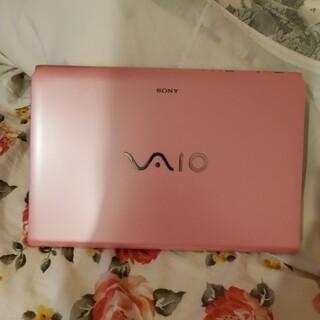 バイオ(VAIO)のSONY製 VAIOノートPC 15.5型 ピンク キーボードカバー付き(ノートPC)