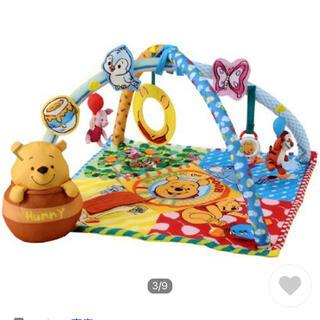 ディズニー(Disney)の6/13まで値下 くまのプーさんベビートイてあそびいっぱいボックスにへんしんジム(ベビージム)