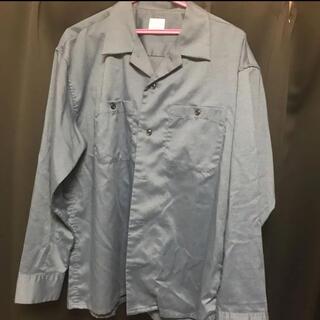 バックナンバー(BACK NUMBER)のオープンカラーシャツ  back number L ブルー(シャツ)