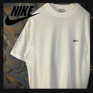 ナイキ(NIKE)のナイキ 90s 半袖Tシャツ ワンポイントロゴ 刺繍 白 ホワイト スウォッシュ(Tシャツ/カットソー(半袖/袖なし))