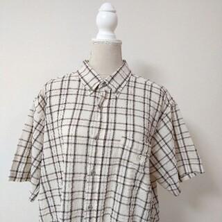 MCM - MCM 半袖シャツ チェックシャツ シアサッカー ビッグサイズ 3L
