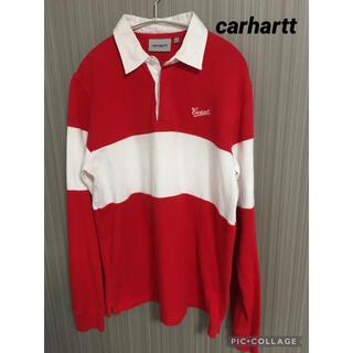 カーハート(carhartt)の【人気】カーハート  carhatt ラガーシャツ ポロシャツ 赤白ボーダー(ポロシャツ)