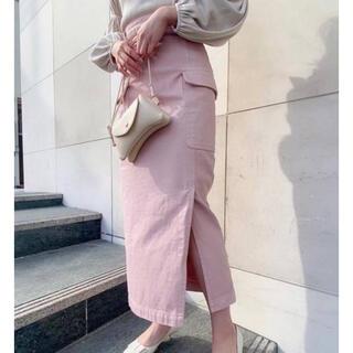 デイシー(deicy)のDEICY デニムタイトロングスカート 限定色 ベビーピンク(ロングスカート)