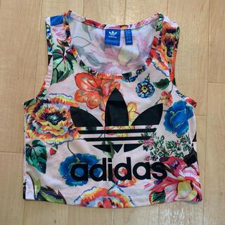 adidas - アディダス タンクトップ ショート丈 adidas