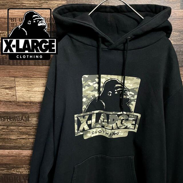 XLARGE(エクストララージ)のXLARGE エクストララージ ビッグ ロゴ オーバー サイズ パーカー メンズのトップス(パーカー)の商品写真