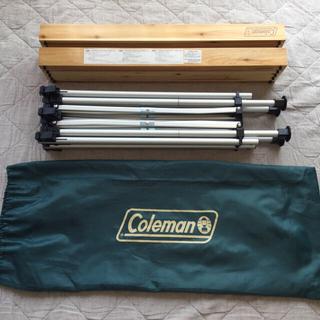コールマン(Coleman)の【チャイくん様専用】Colemanナチュラルウッドロールテーブル 120(アウトドアテーブル)