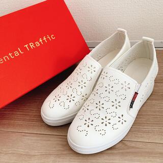 オリエンタルトラフィック(ORiental TRaffic)のOriental traffic 靴 23.5 ★白★(スニーカー)