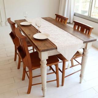 テーブルランナー タッセル付き(180×33cm, オフホワイト)(ローテーブル)
