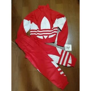 アディダス(adidas)の薔薇子様専用 adidasビッグトレフォイル上下セットアップ赤M 未使用(ナイロンジャケット)