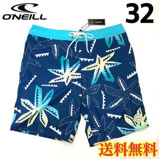 オニール(O'NEILL)の【新品】オニール  メンズ ボードショーツ 柄 ブルー 32(水着)