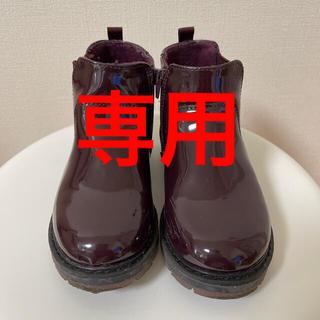 ザラキッズ(ZARA KIDS)のZARA キッズブーツ エナメル 赤紫(ブーツ)