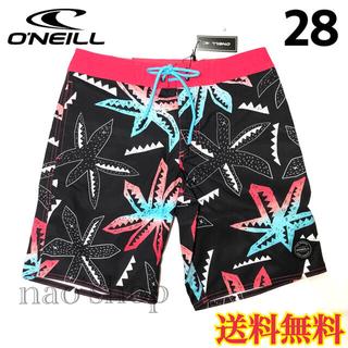 オニール(O'NEILL)の【新品】オニール  メンズ ボードショーツ 柄 ブラック 28(水着)