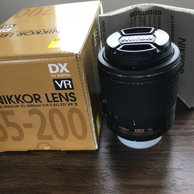Nikon(ニコン)のNikon レンズ DX NIKKOR 55-200mm ED VR II スマホ/家電/カメラのカメラ(レンズ(ズーム))の商品写真