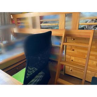 木製 ウッドベッド、本棚、机セット(ロフトベッド/システムベッド)