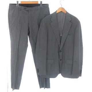 エディフィス(EDIFICE)のエディフィス シングル スーツ セットアップ 上下 背抜き 2B グレー 50(スーツジャケット)