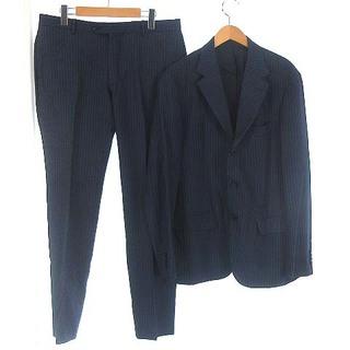 エディフィス(EDIFICE)のエディフィス カノニコ シングル スーツ セットアップ 上下 背抜き 紺 50(スーツジャケット)