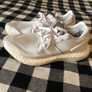 ワイスリー(Y-3)のY-3 pureboost adidas yojiyamamoto white(スニーカー)