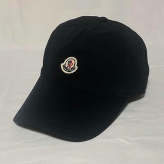 モンクレール(MONCLER)のMONCLER モンクレール ロゴパッチ ベースボールキャップ 帽子 ネイビー(キャップ)