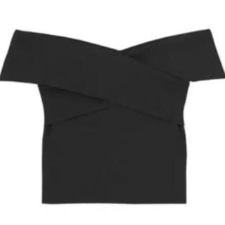 マーキュリーデュオ(MERCURYDUO)のクロスニット ブラック(Tシャツ(半袖/袖なし))