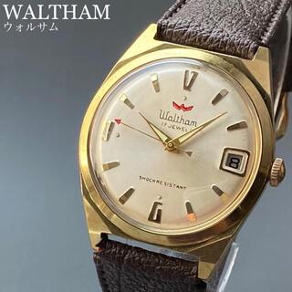ウォルサム(Waltham)の動作良好★ウォルサム アンティーク 腕時計 1950年代 メンズ 手巻き(腕時計(アナログ))