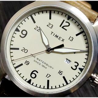 TIMEX - TIMEX タイメックス Waterbury アイボリー×カーキ INDGLO