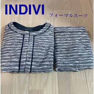 INDIVI - INDIVI☆インディヴィ☆フォーマルスーツ 38 ネイビー