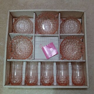 トウヨウササキガラス(東洋佐々木ガラス)の昭和レトロ食器(食器)
