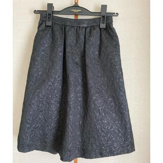 クリアインプレッション(CLEAR IMPRESSION)のクリアーインプレッション 黒 キラキラ フランドル スカート(ひざ丈スカート)
