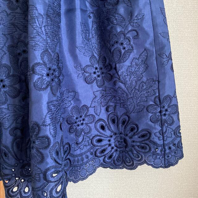 ANAYI(アナイ)のANAYI ブルー 華やか スカート レディースのスカート(ひざ丈スカート)の商品写真