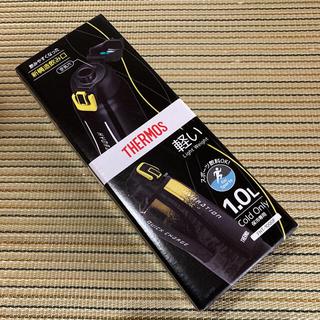 サーモス(THERMOS)の新品 サーモス 水筒 真空断熱 スポーツボトル 1リットル 黒(水筒)