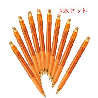 ミツビシ(三菱)の2本 三菱鉛筆 消せるボールペン ユニボールRE 0.38 サンオレンジ(ペン/マーカー)