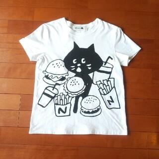 ネネット(Ne-net)のNe-net にゃー 140~150サイズ Tシャツ 白(Tシャツ/カットソー)