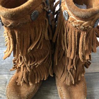 ミネトンカ(Minnetonka)のミネトンカ MINNETONKA キッズ 8 14cm ブラウン ブーツ 女の子(ブーツ)