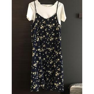 グローブ(grove)のglove Tシャツ&キャミソールワンピースS花柄(ロングワンピース/マキシワンピース)