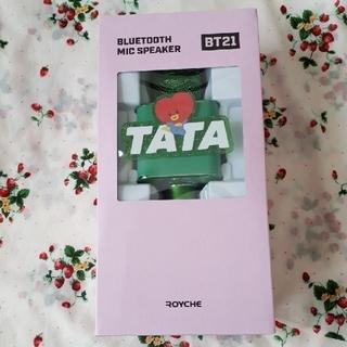 BT21 TATA テヒョン ワイヤレスマイクスピーカー Bluetooth(キャラクターグッズ)