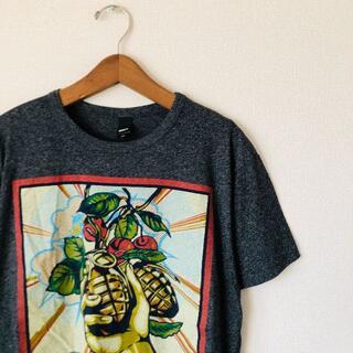 オベイ(OBEY)の90s OBEY ストリート アート 派手 奇抜 希少 Tシャツ ヴィンテージ(Tシャツ/カットソー(半袖/袖なし))
