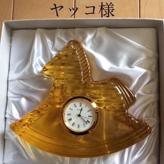 ワコウドウ(和光堂)の◉Wako クロック 置き時計 馬 キイロ◉(置時計)