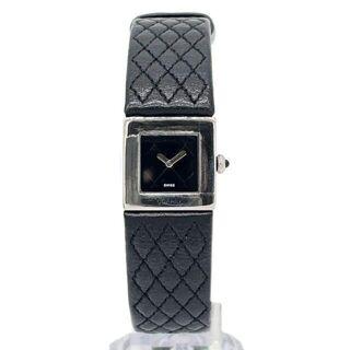 CHANEL - 【大人気】シャネル レディース腕時計 マトラッセ 黒文字盤 シルバー Q5