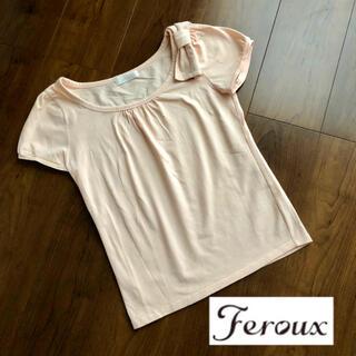 フェルゥ(Feroux)のFeroux 半袖 Tシャツ カットソー ピンク(Tシャツ(半袖/袖なし))