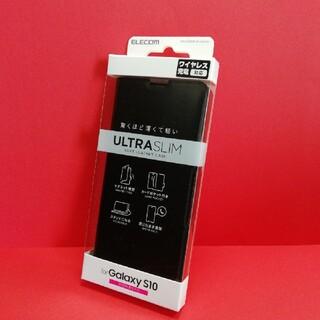 エレコム(ELECOM)のエレコム Galaxy S10 用 ソフトレザーケース 薄型 磁石付(Androidケース)