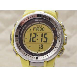 カシオ(CASIO)の中古品!【CASIO】 プロトレック  PRW-3000-9B (黄)(腕時計(デジタル))