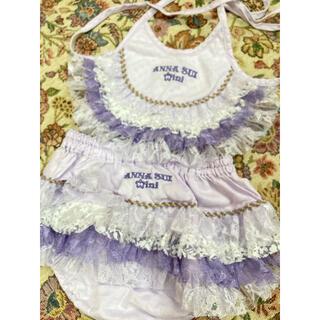 アナスイミニ(ANNA SUI mini)のアナスイミニ オムツカバー スタイ ヘッドドレス3点セット(ベビースタイ/よだれかけ)