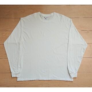 チャンピオン(Champion)の良品 CHAMPION チャンピオン ロンT  長袖Tシャツ XL ホワイト(Tシャツ/カットソー(七分/長袖))