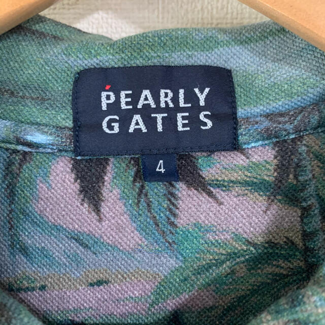 PEARLY GATES(パーリーゲイツ)の【美品】PEARLY GATES ポロシャツ アロハ柄 ハワイアン サイズ4 メンズのトップス(ポロシャツ)の商品写真
