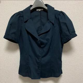 ナラカミーチェ(NARACAMICIE)のNARA CAMICHE 半袖シャツ ネイビー(シャツ/ブラウス(半袖/袖なし))