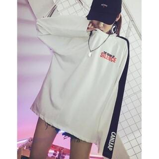 ディーホリック(dholic)の韓国風 オルチャン カジュアル スポーティー カットソー(Tシャツ(長袖/七分))