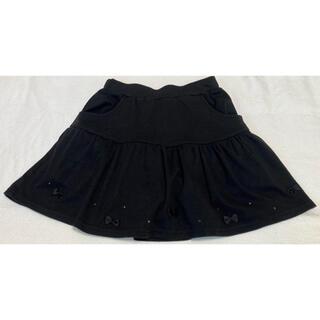 マザウェイズ(motherways)のマザウェイズ インナースパッツ付きフレアスカートブラック150 140黒スカート(スカート)