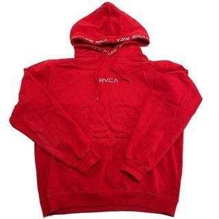 ルーカ(RVCA)のRVCA ルーカ ロゴ刺繍 スウェットパーカー RED-L(パーカー)