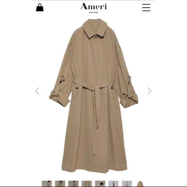 Ameri VINTAGE(アメリヴィンテージ)のameri vintage スフレコートベージュ アメリヴィンテージ レディースのジャケット/アウター(ロングコート)の商品写真