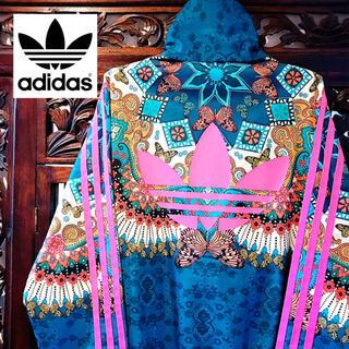 adidas - アディダス エスニック 花柄 ジャージ ジャケット パーカー 蝶々 バタフライ